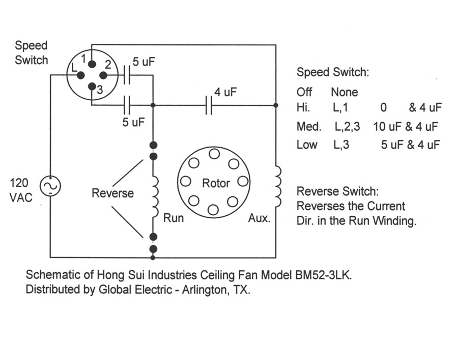 Ceiling Fan Capacitor Wiring Diagram from www.electrical-forensics.com
