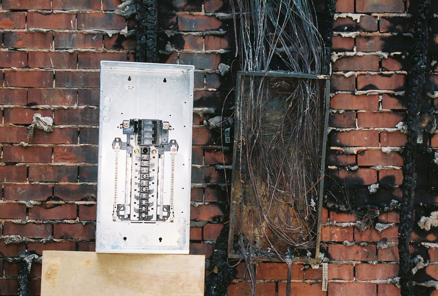 Electrical distribution panels circuit breaker fires