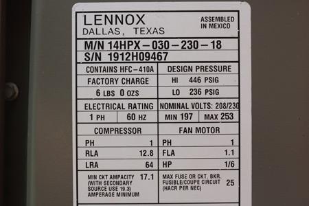 Air Conditioner Date Codes